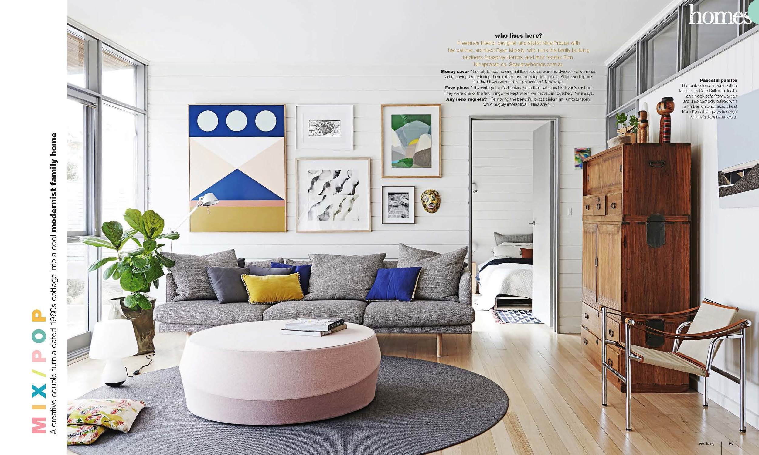 Real Living Homes Feature - Styling by Simone Haag & Nina Provan Photography Eve Wilson