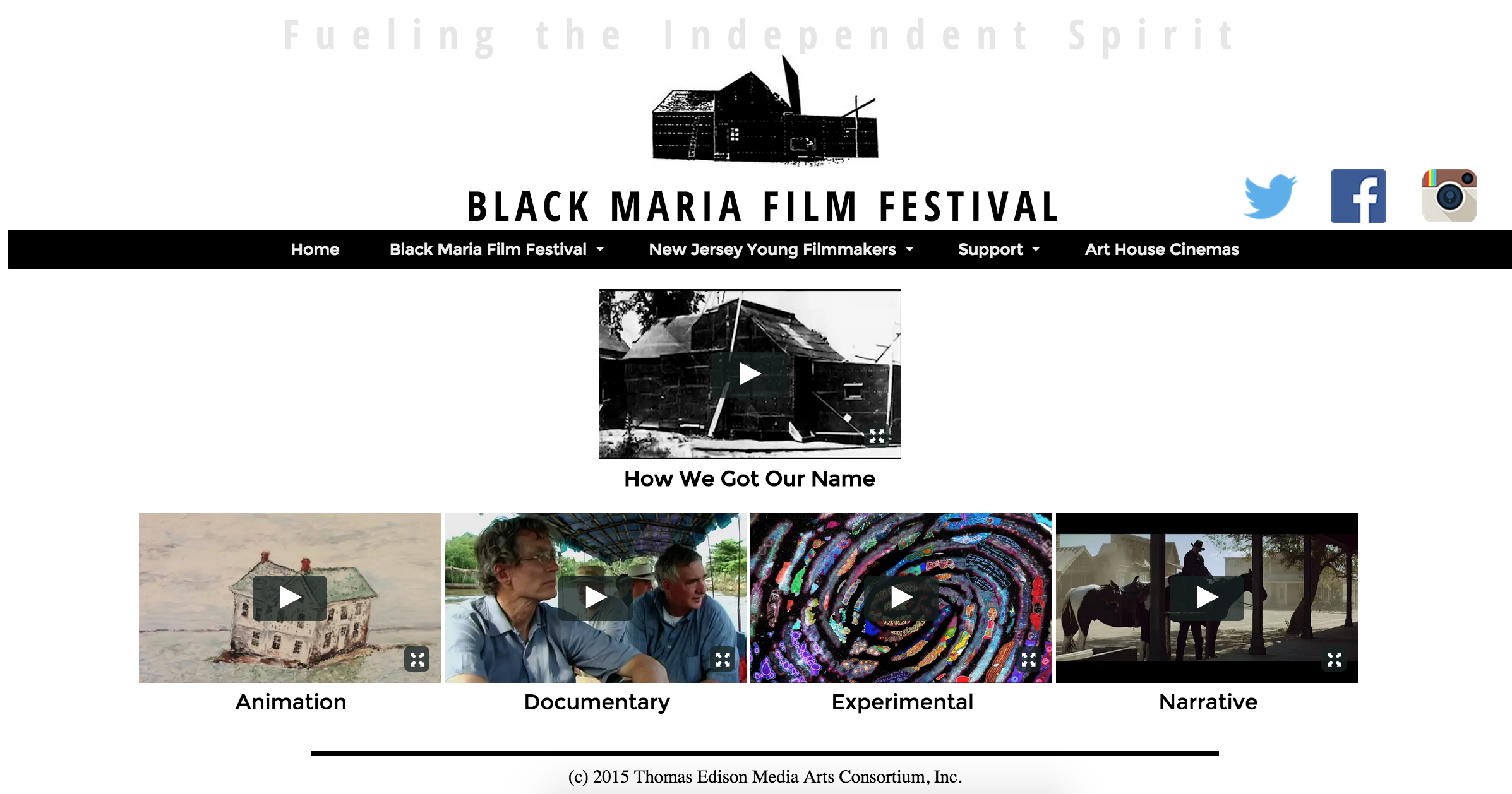 black maria film festival home page features return to dak to