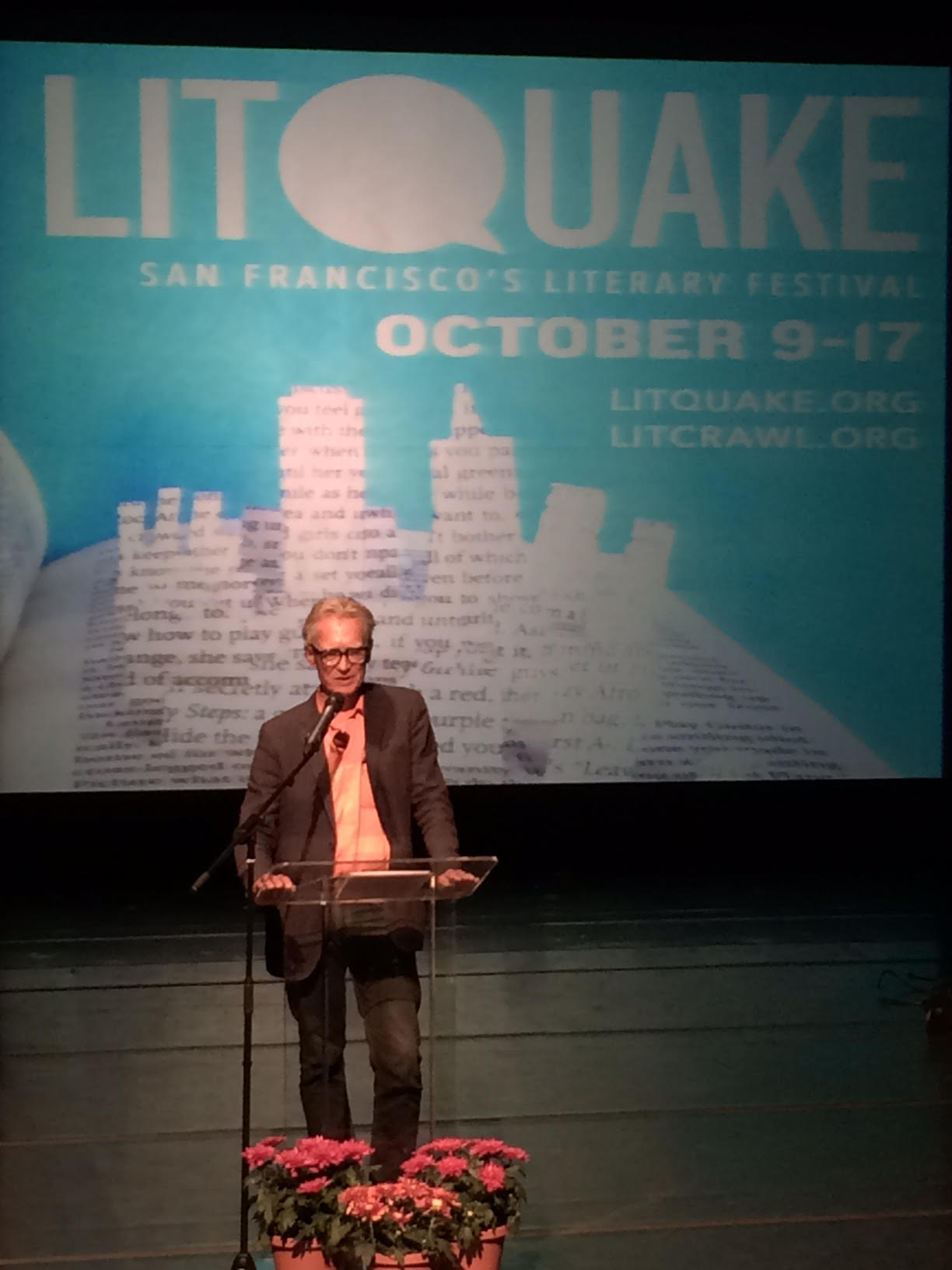 Chris Upham speaks at LitQuake's Barbary Coast Award Tribute - Photo by S. Smith Patrick