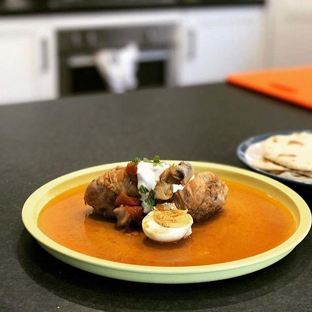 Yummy Doro Wat Christmas recipe by @justaddyoghurt. It's beginning to feel a lot like [an #Ethiopian] Christmas 🎼 #ethiopianfood #ethiopiancuisine #Ethiopian #chicken #holidayseason #dorowat #ethiopia