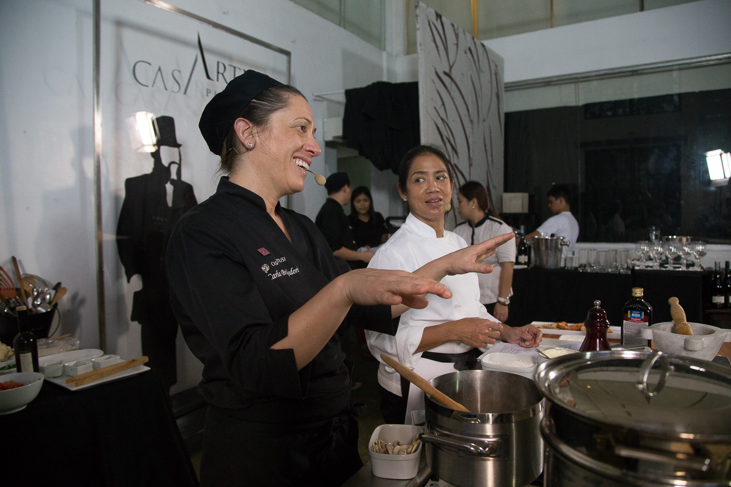 Chefs Carla Brigliadori and Margarita Forés get into Day 2.