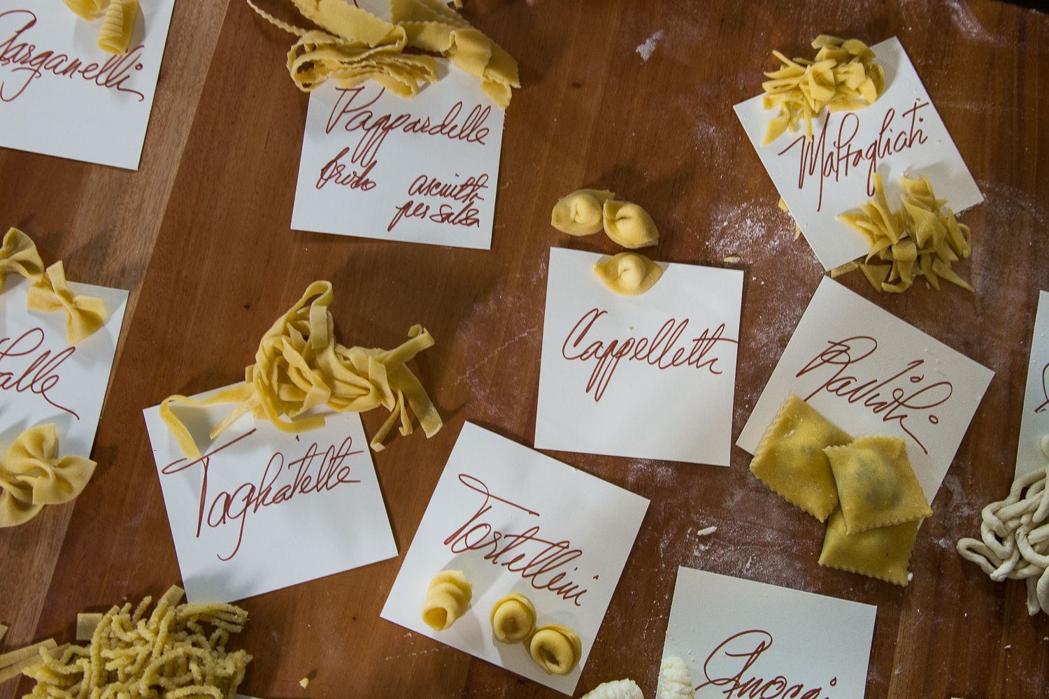 12 types of fresh pasta included in the class
