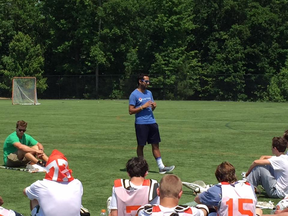 LTN Executive Director, Javier Silva speaking to the boys during Training Camp.
