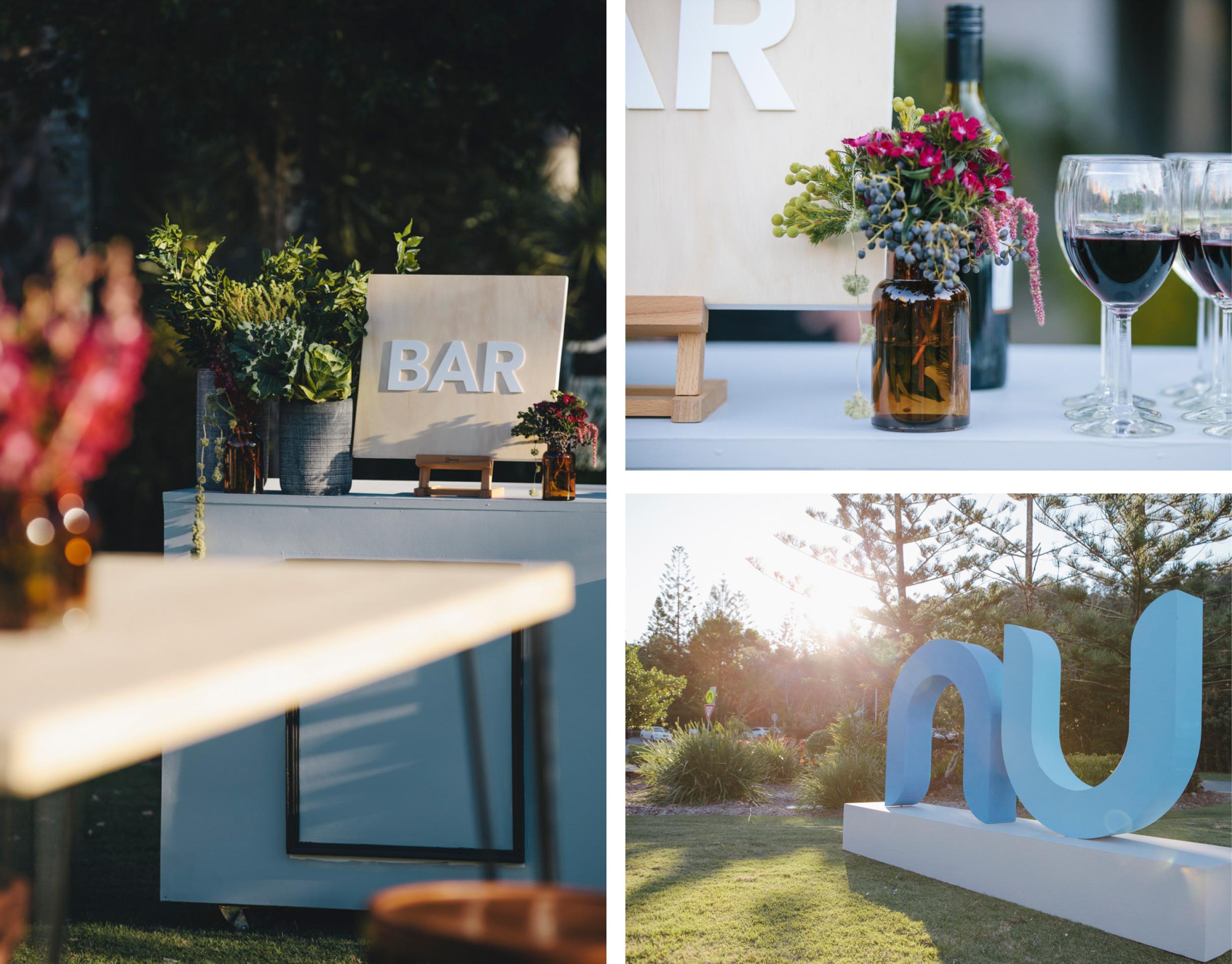 corporate event styling sunshine coast bar