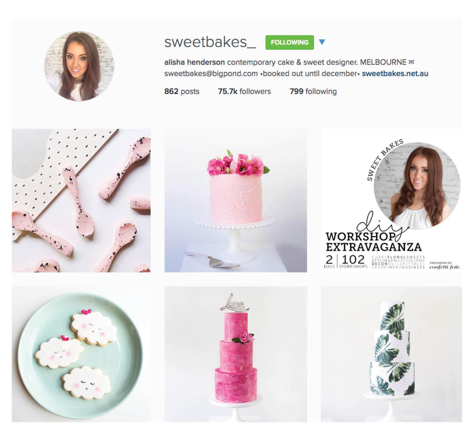 Sweet bakes wedding cake instagram