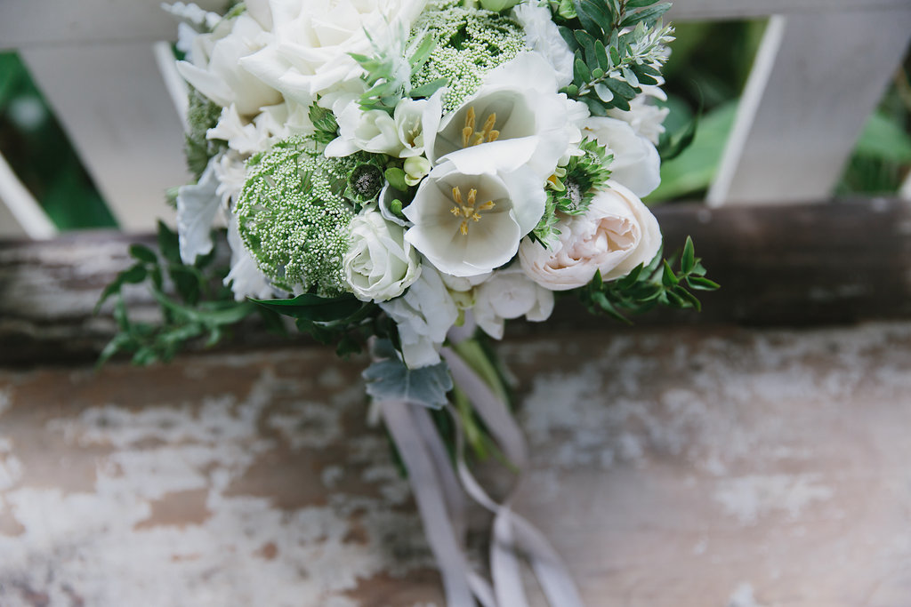 real wedding bouquet sunshine coast styled by little gray station