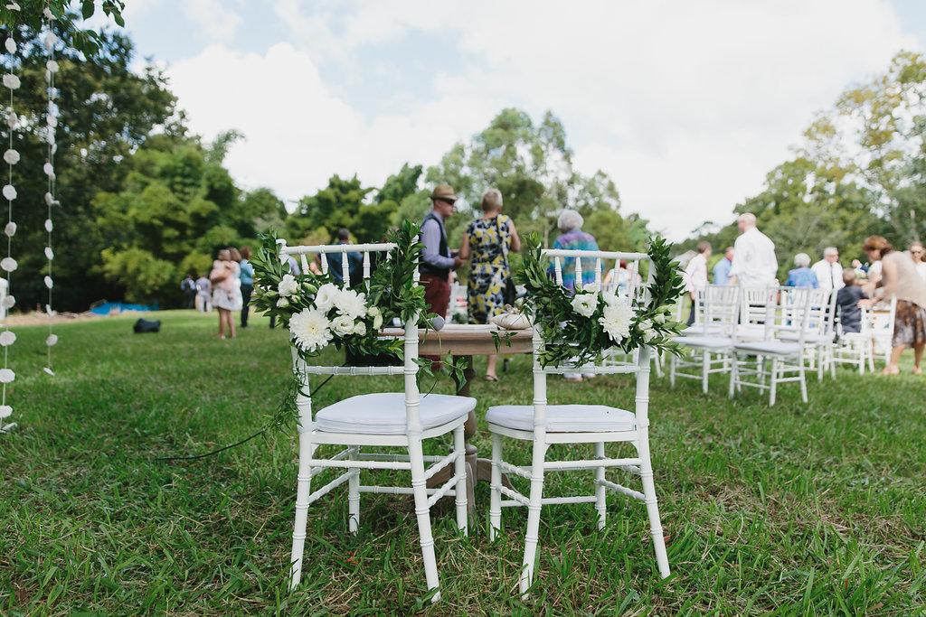 wedding ceremony sunshine coast styled by little gray station
