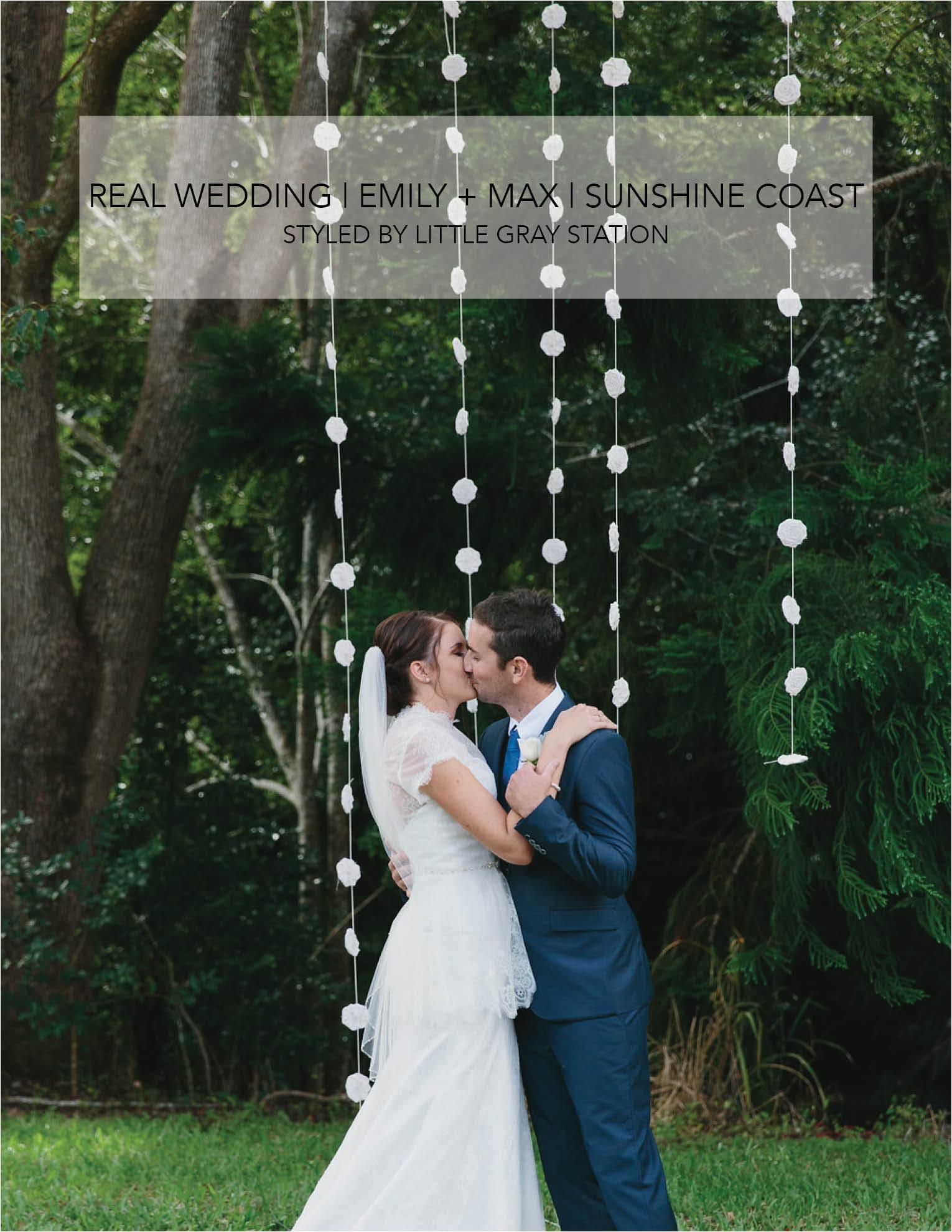 real wedding sunshine coast
