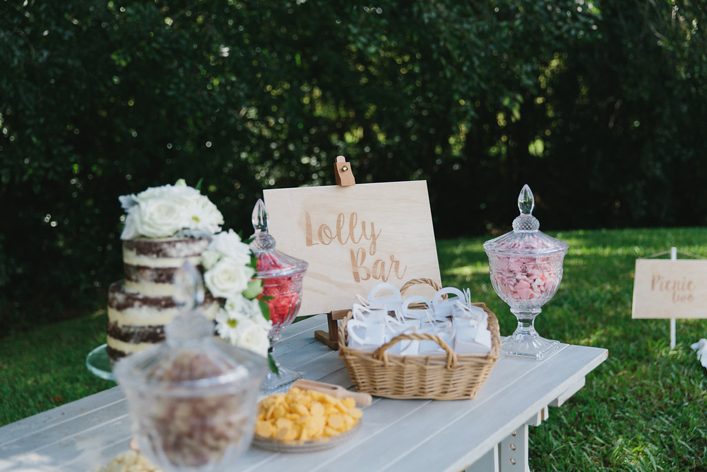 lolly bar real wedding sunshine coast styled by little gray station