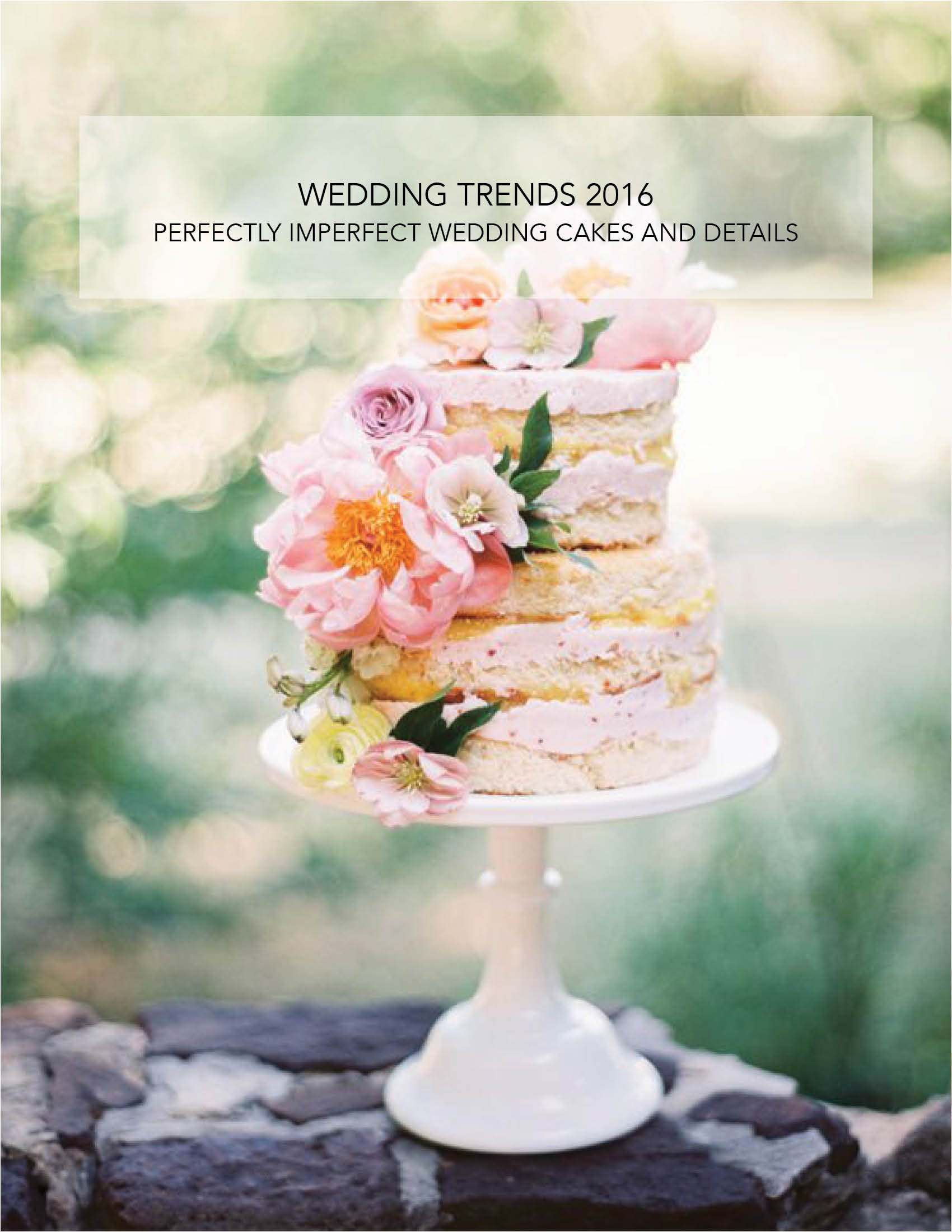 wedding trends 2016 spring organic floral cake