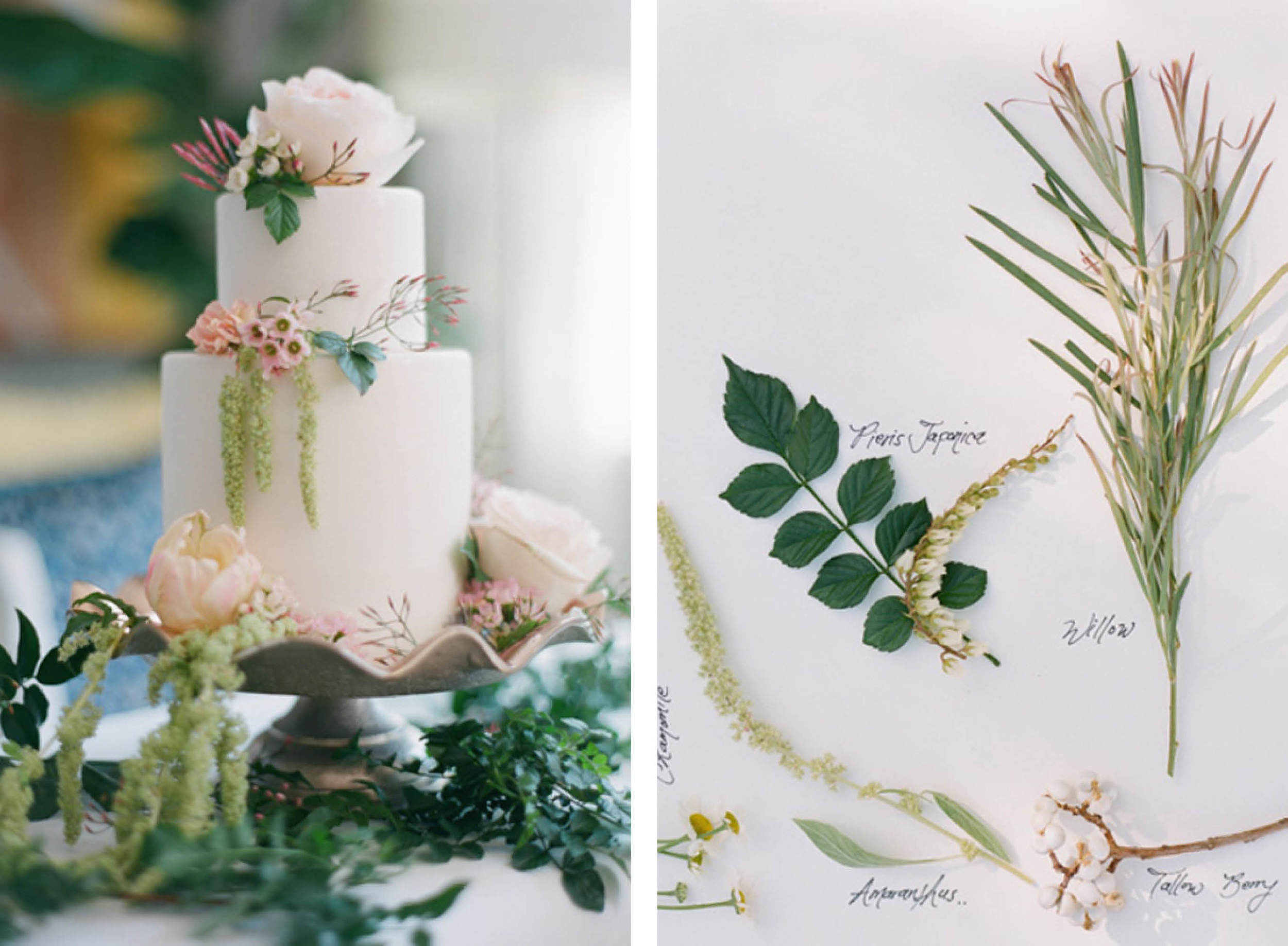 Found:  100 Layer cake  | Photo:  Esther Sun  Florals:  Milieu Florals  | Cake:  M Cakes Sweets