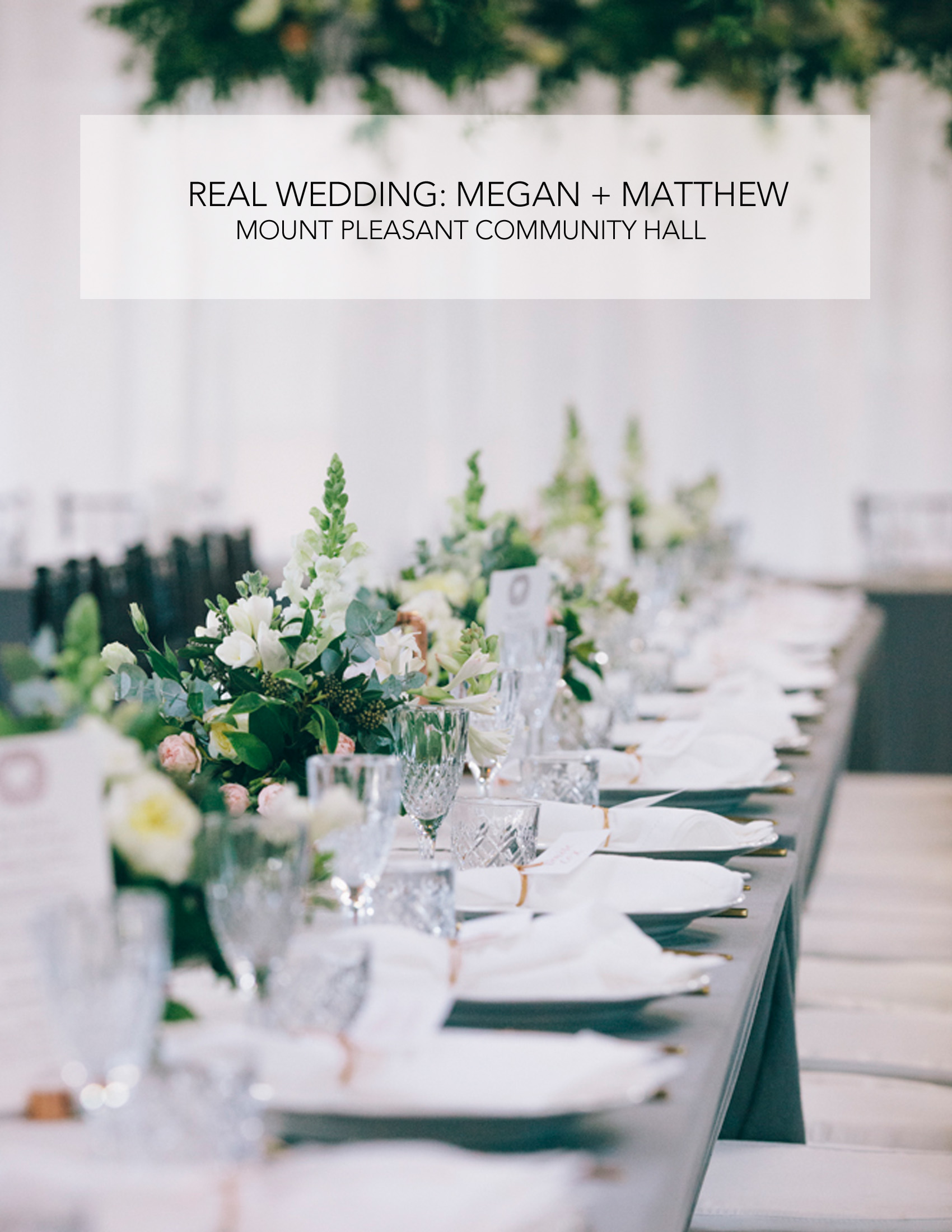 Megan and Matthews Real Wedding Styled by Little Gray Station