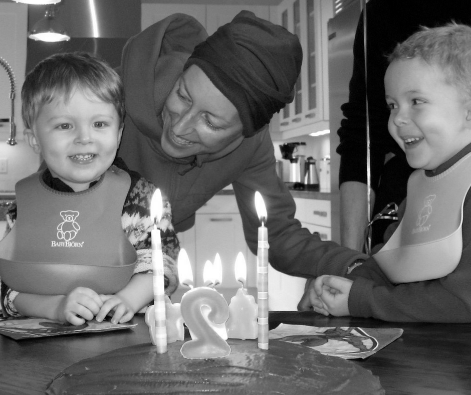 A picture of me and my two children, Gabriel (4) and Samuel (2) during Sam's 2nd birthday.