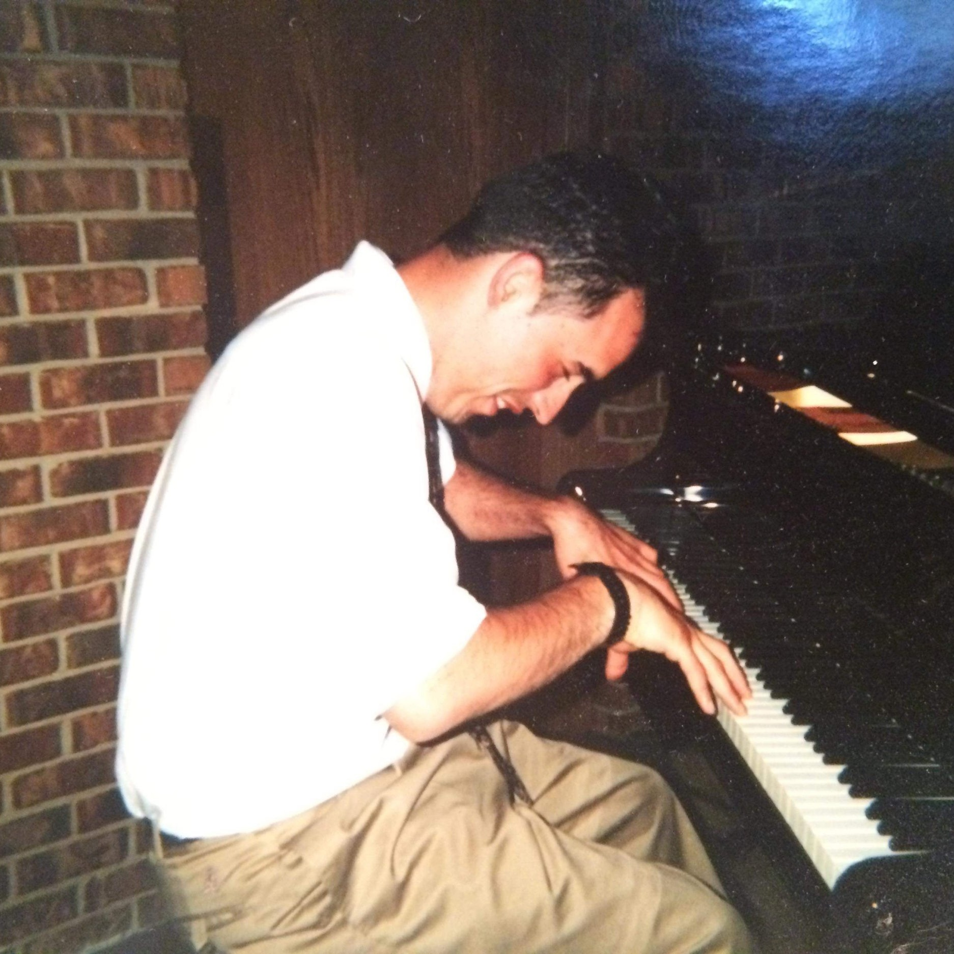 Will playing piano at Teen Challenge in Western Michigan.