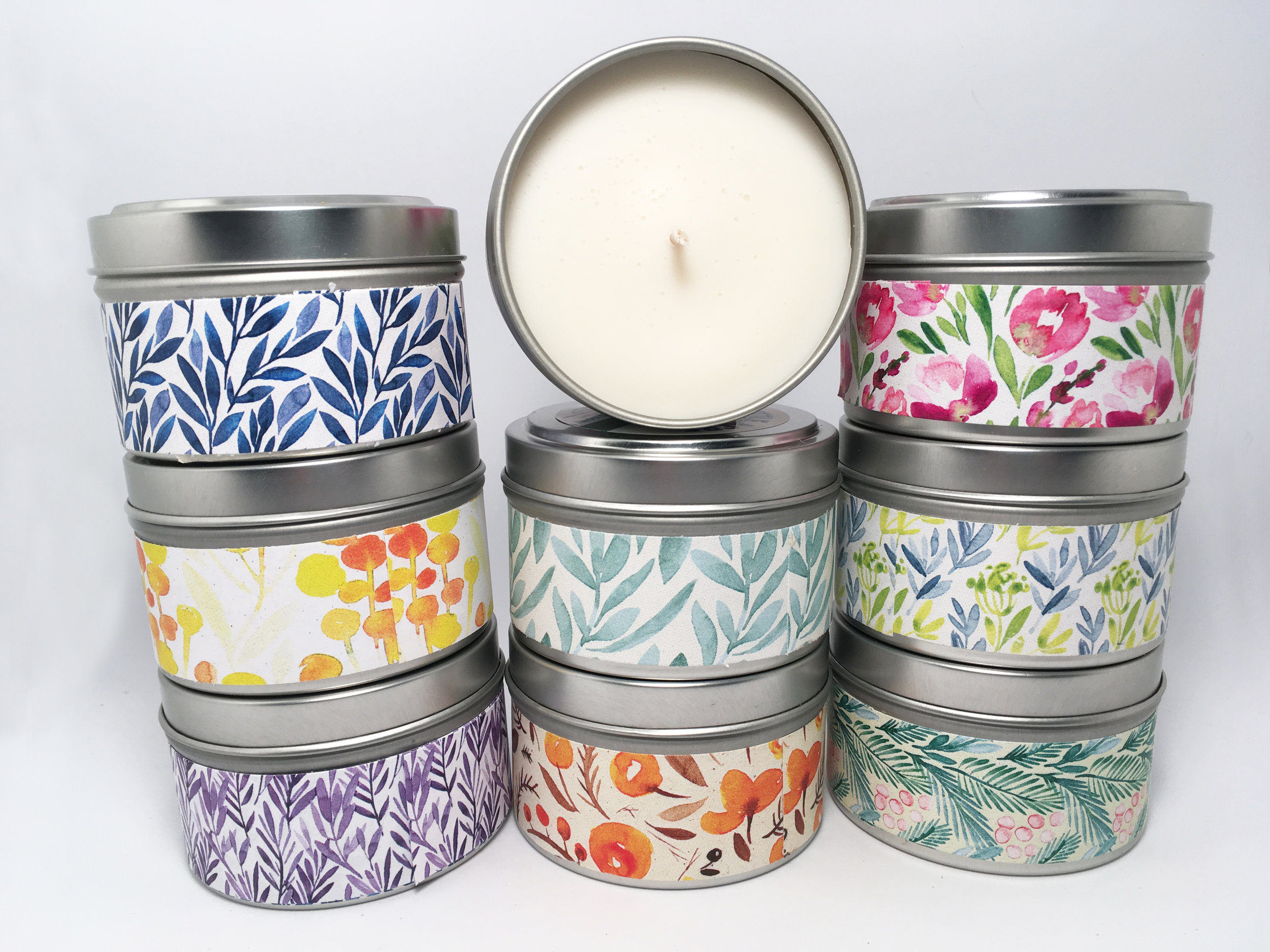 INTO THE WOODS SOY CANDLE  — Cedarwood, Rosemary,  $10/each or 3 for $25