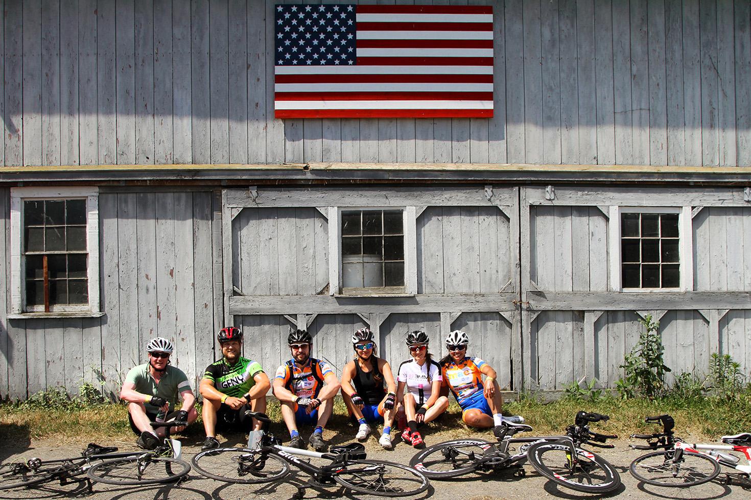 Farm to Fork Fondo – Hudson Valley cyclists at Pierson Hill Farm