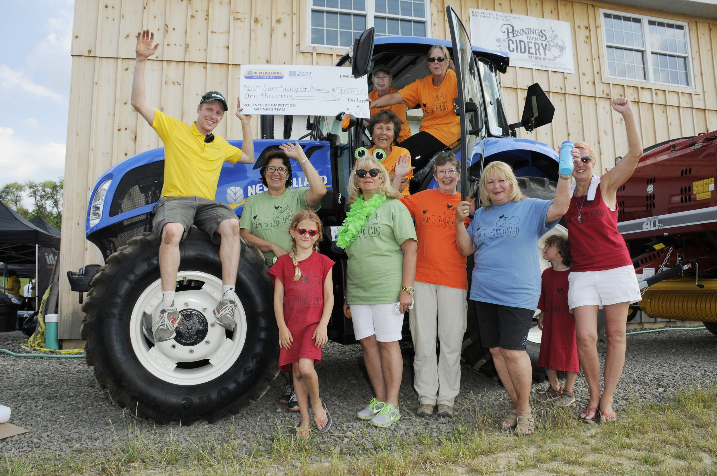 The Farm to Fork Fondo Volunteer Competition benefits local organizations