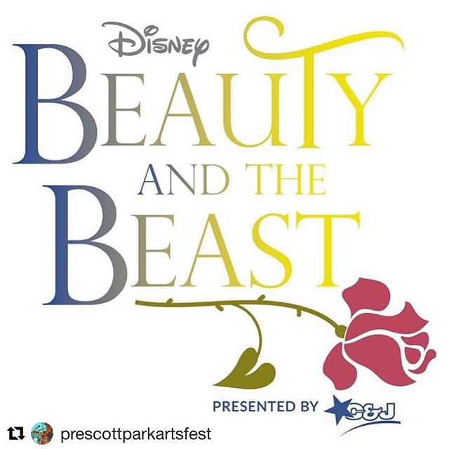 My logo design for this summer's musical at @prescottparkartsfest 🌹 ・・・ be our guest this summer! we're excited to announce our musical, and look forward to all the warm magical nights ahead. ❤️🌹☀️ #summerawaits #beautyandthebeast #beourguest
