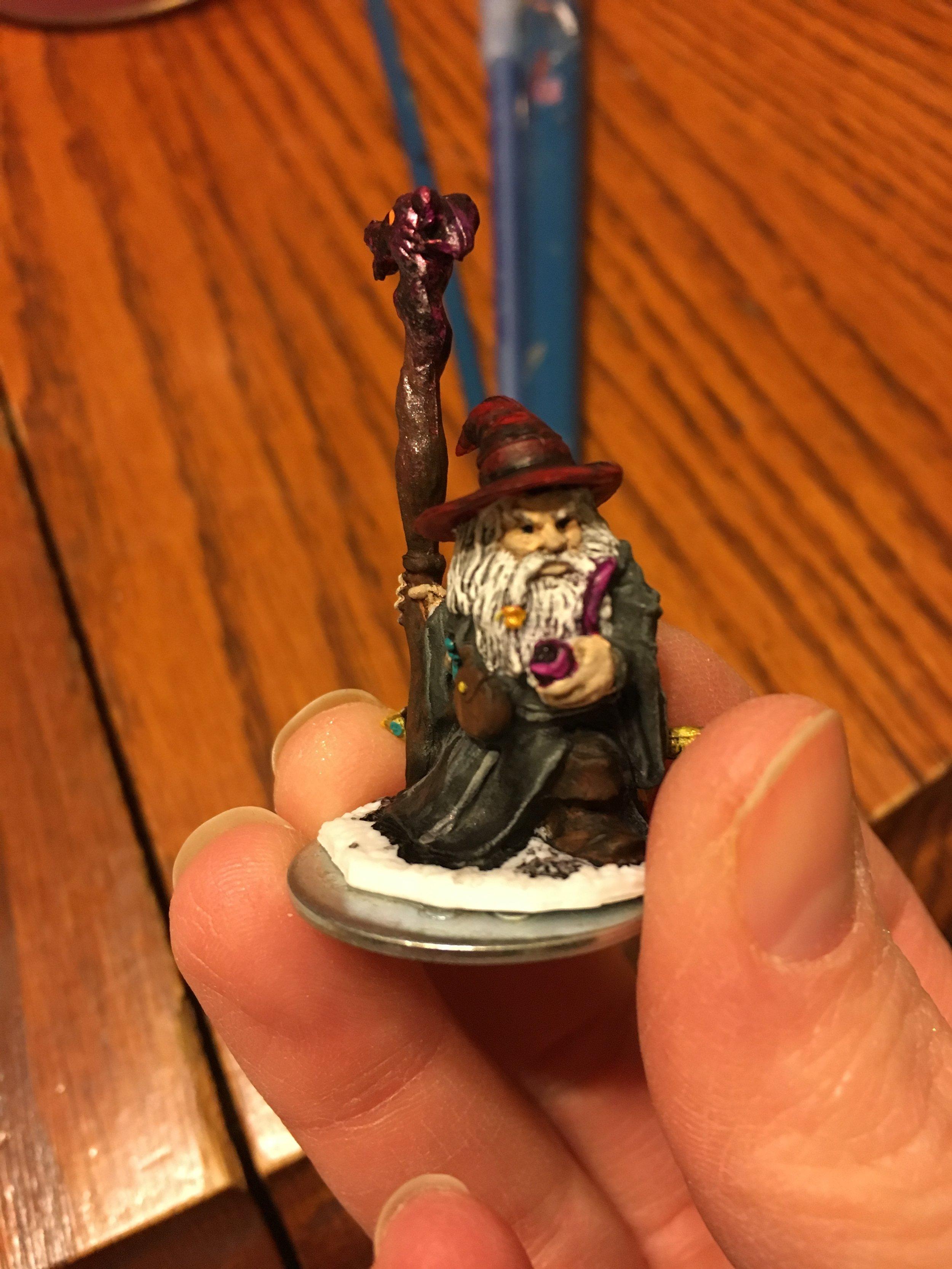 Dominic's Gnome Wizard in process