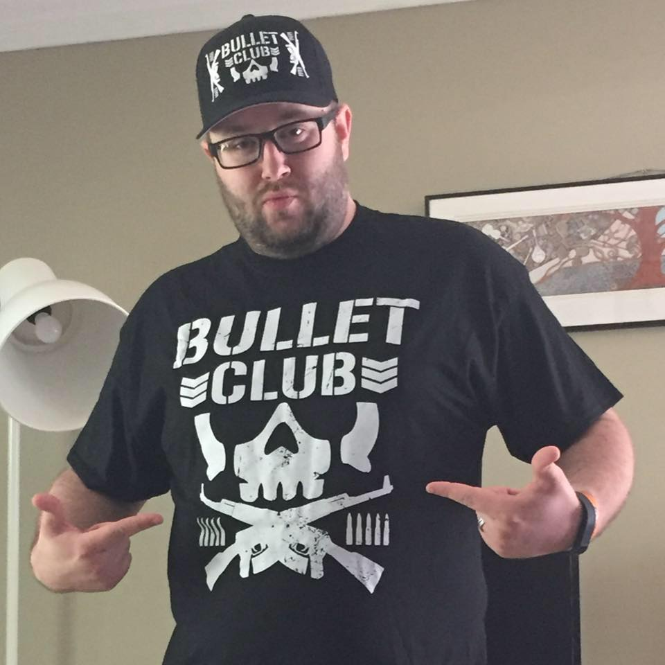 I love Pro Wrestling as evidenced by my excitement when this Bullet Club shirt and hat arrived. I just had to get a photo in my new merchandise.