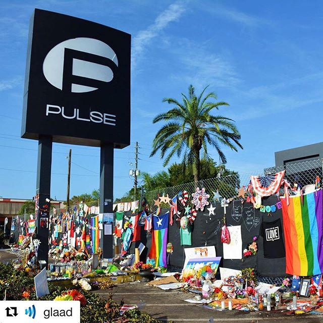 This is why #pride matters. Until my LGBTQIA+ siblings and I can live openly without fear of violence, Pride matters. Until we're not discriminated against or made to feel like a punchline, Pride matters.  And I'm proud.  #Repost @glaad ・・・ 3 years  #SayTheirNames #HonorThemWithAction #Pulse