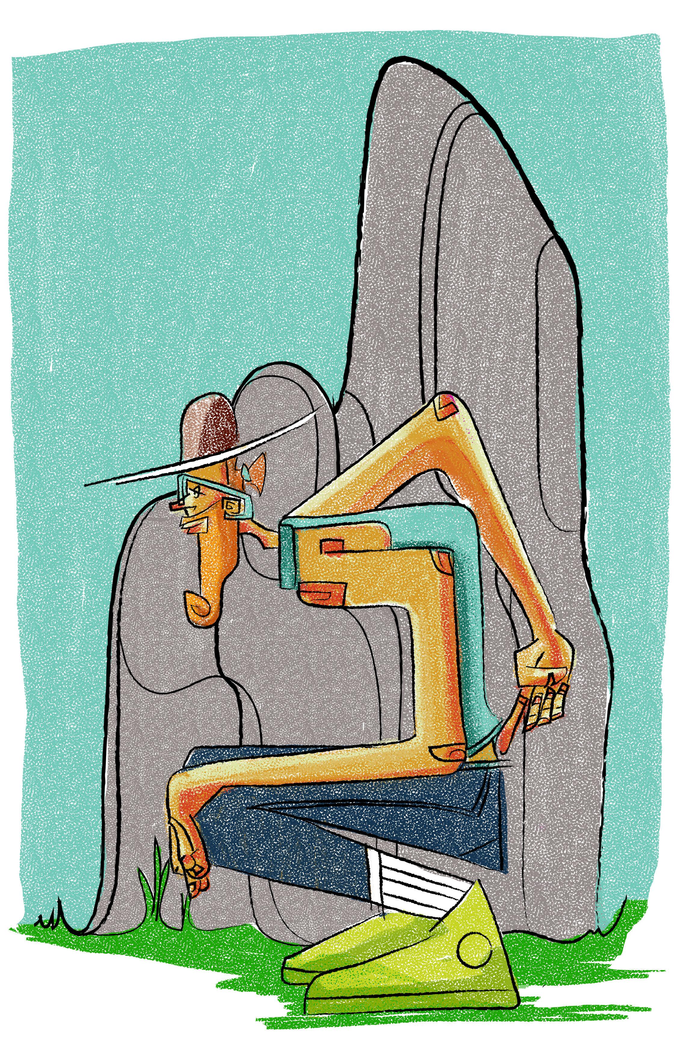 Rock Climber  (Caricature)