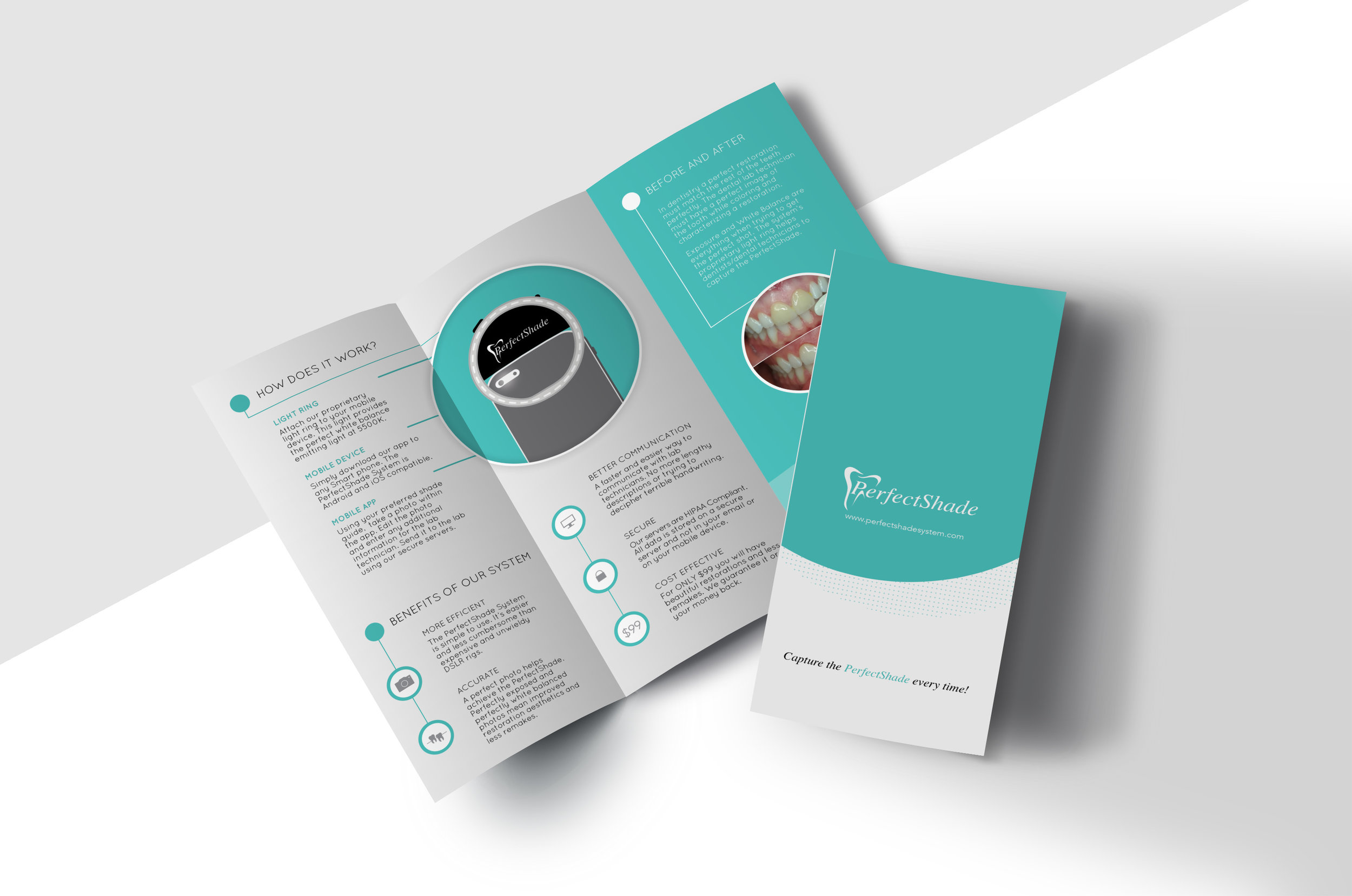 Perfect Shade Brochure Design   Client Promotion for Light and App