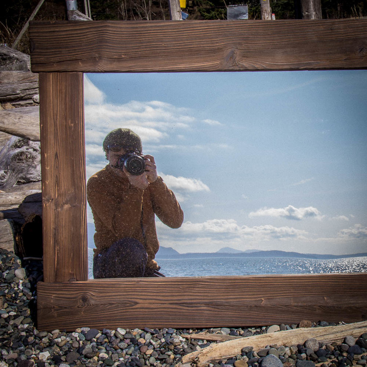 shu sugi ban mirror on legoe bay