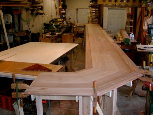 Uisca bar under construction in the shop - 2006