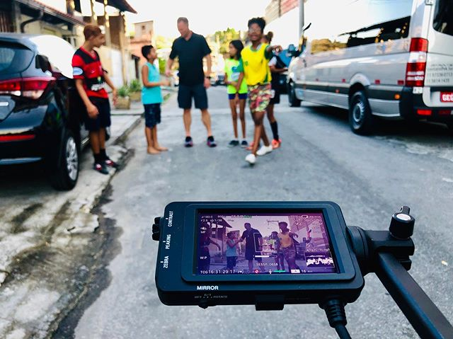 Fun shoot today in São Gonçalo, Rio de Janeiro, Brazil. AFASE is doing great work in the community with sports. #dp #behindthescenes #sonyfs7