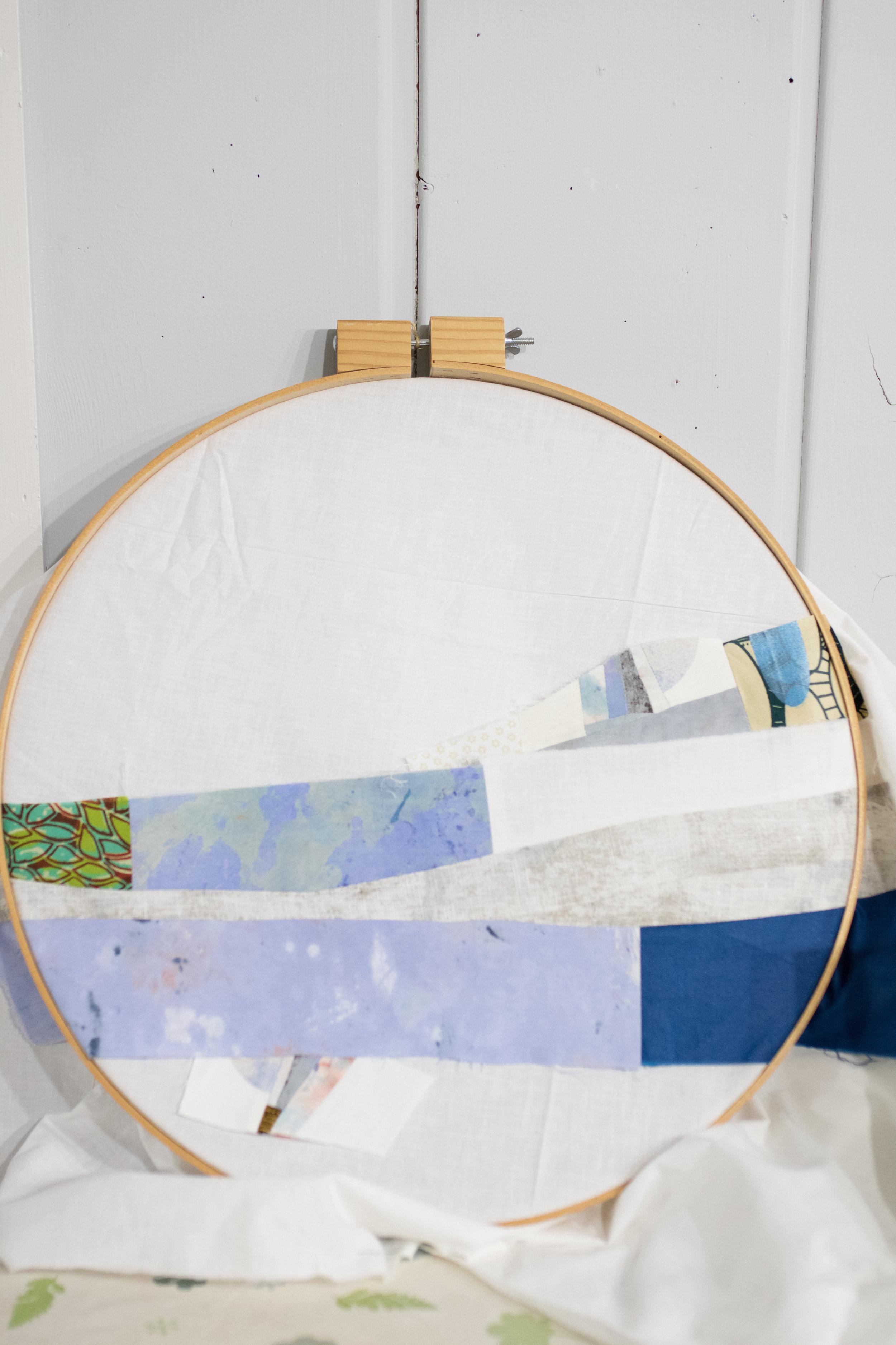 Seeing how it looks in the hoop again.