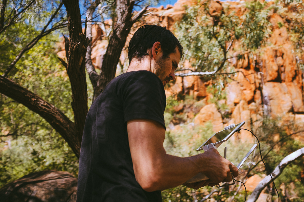 Darren McCagh on the drone. The laziest form of filmmaking- Pilbara, Western Australia
