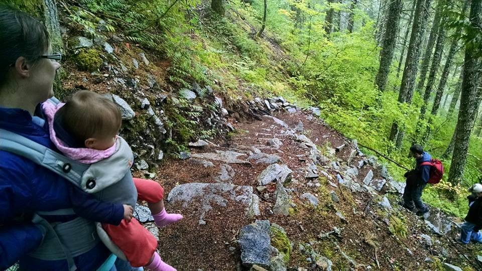 Five of us hit the Iron Goat Trail in the Snoqualmie-Mt Baker National Forest on Saturday for a hike. It was our first day of cool rain all summer, and we enjoyed the conversation & trail.