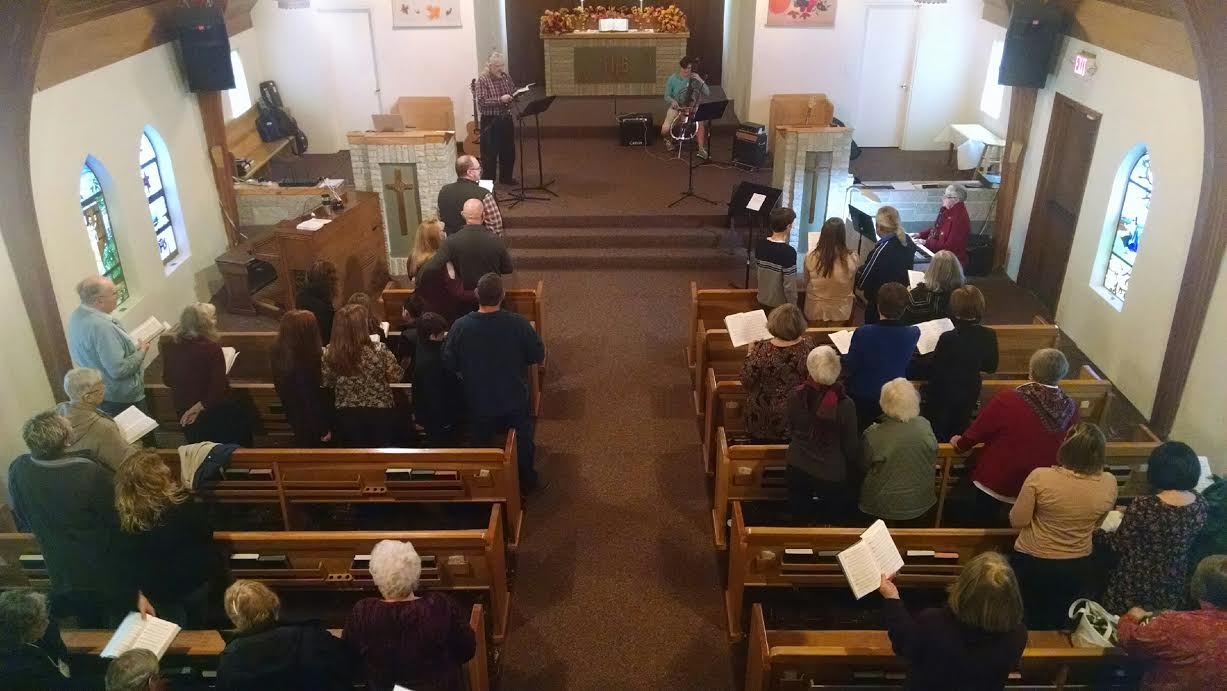 Our Thanksgiving Worship on Sunday, November 22nd included a new tradition: A Concert of Gratitude. Over a dozen people from our fellowship shared their personal stories of thanksgiving to God! [photo credit: Brenda Ray]