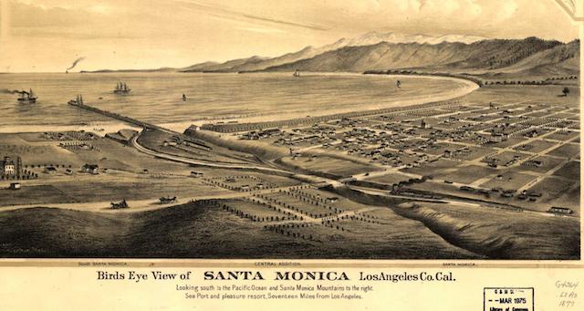 Image of Santa Monica in 1877