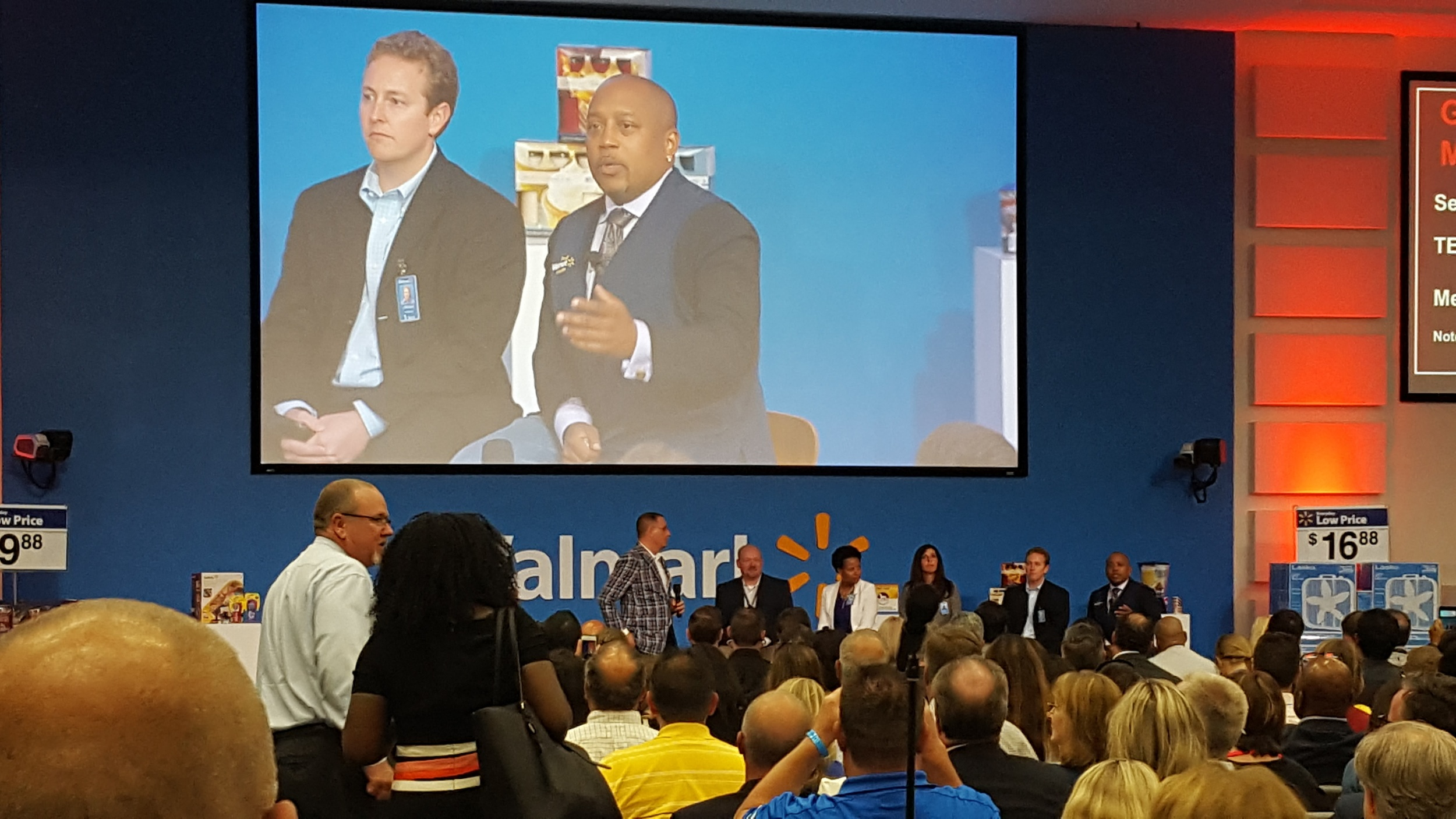 Daymond John was a guest panelist in a Shark Tank-like competition. That was fun and inspiring to watch!