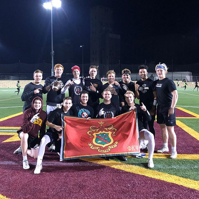 Congratulations to the men of the Phi Psi intramural football team for winning their second consecutive championship, this time 26-6 over Sigma Nu! #LEDN