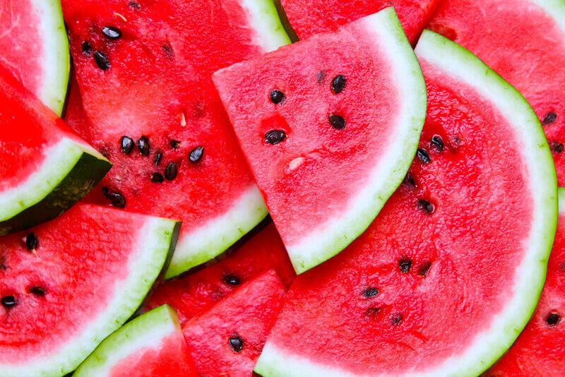 Watermelon is helpful in hydrating and healing the nervous system.