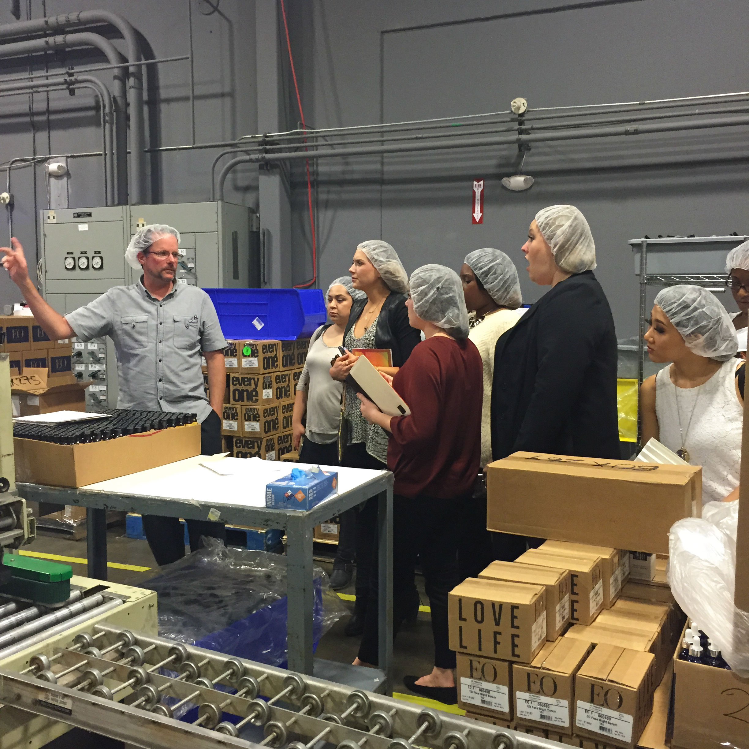 Next we drove up to EO's new facility in San Rafael to see how another essential oils company has grown.