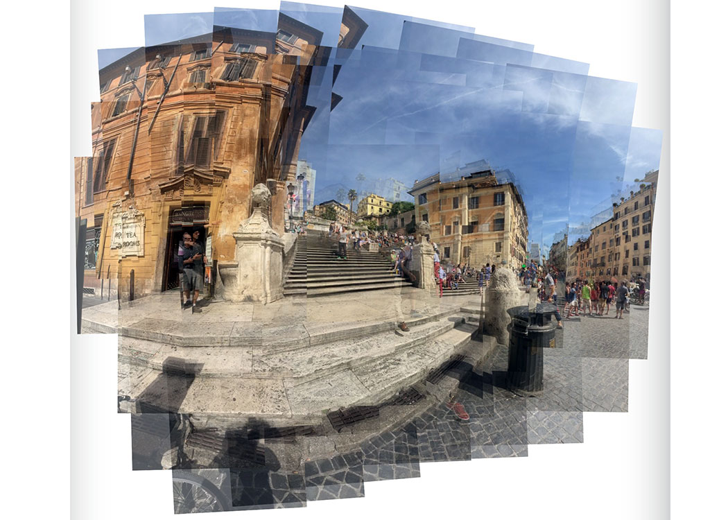 Final stop, Rome. Collage of the Spanish Steps.