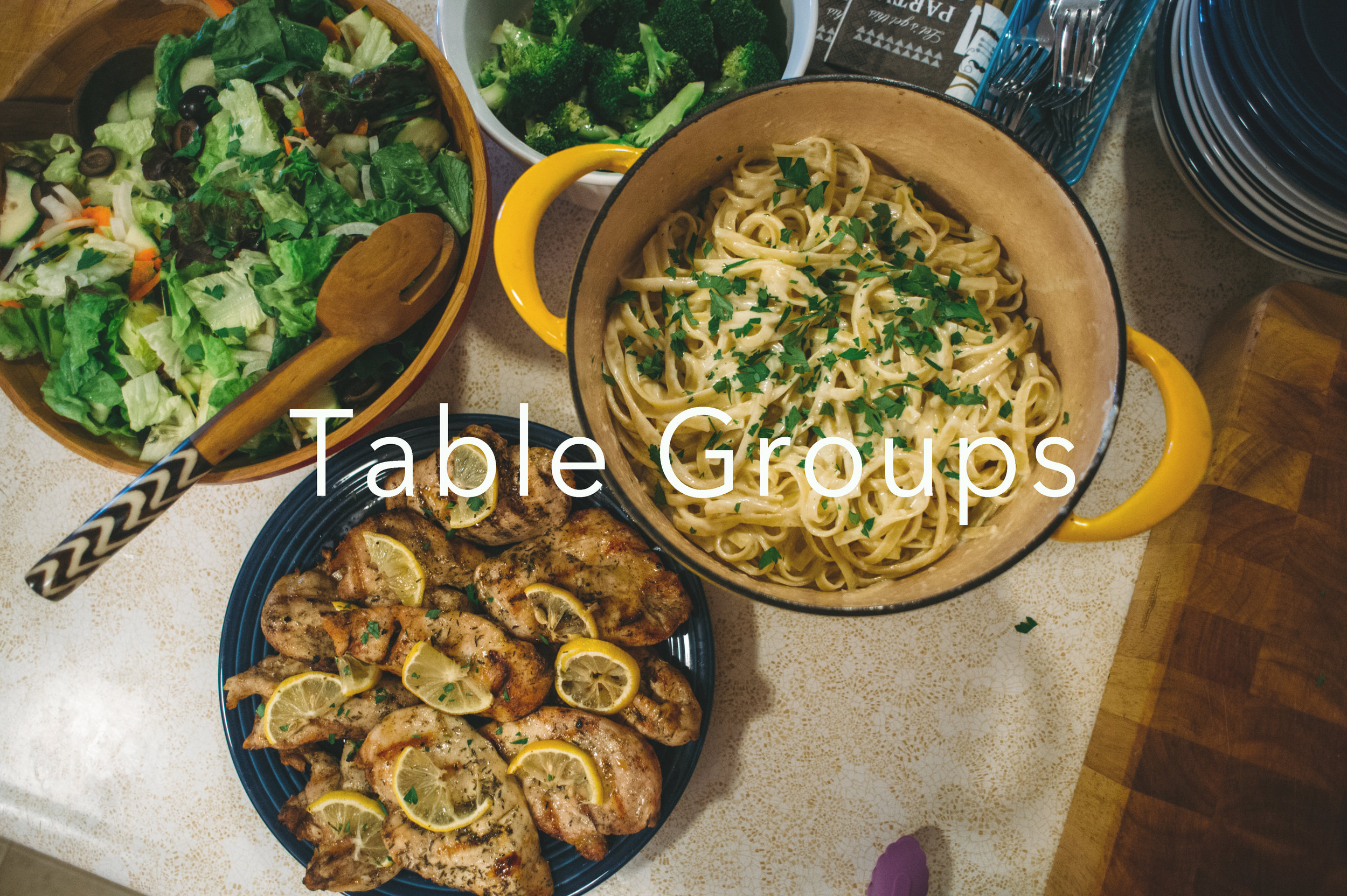 "Current Table Groups: - Fall 2019 Small Groups:TUESDAYS // 6-8pm - Women's Group - Led by Erin Lackey and Miranda Johnson - 360 Grand Ave - Childcare provided - applying Sunday's message to our lives. PotlWEDNESDAYS - 6-7:30 - Book of Amos - Jaymes Lackey leads an in-depth bible study on the Old Testament Book of Amos. Open to anyone - no childcareTHURSDAYS - 6:30-8pm - Book group on ""Kill the Spider"" - this group is led by Matt and Julianne Manera, Hosted by Ryan and Misty Rayome. It is open to couples. No Childcare.Click the button below to Learn More!"