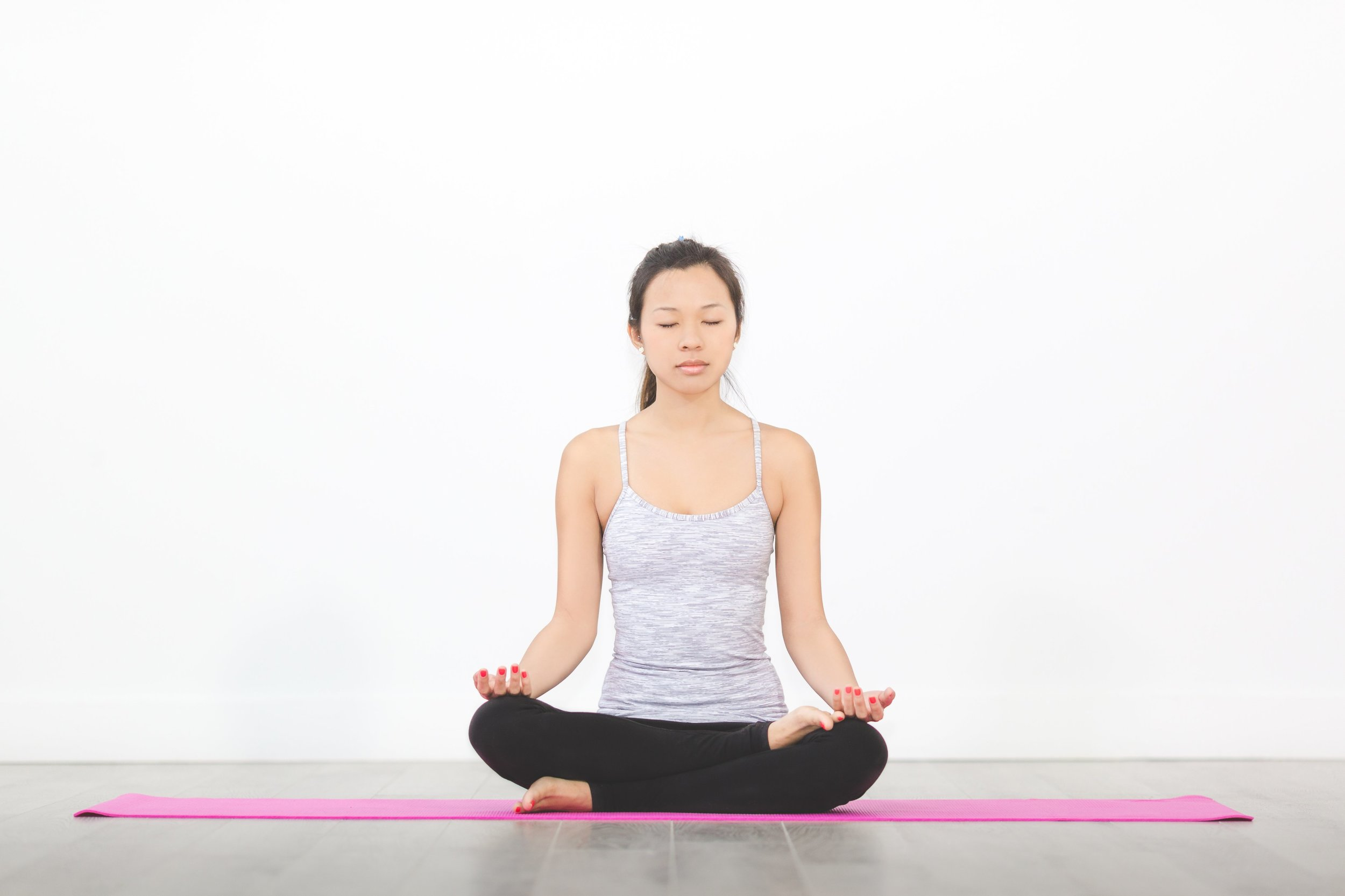 Woman yoga mediation