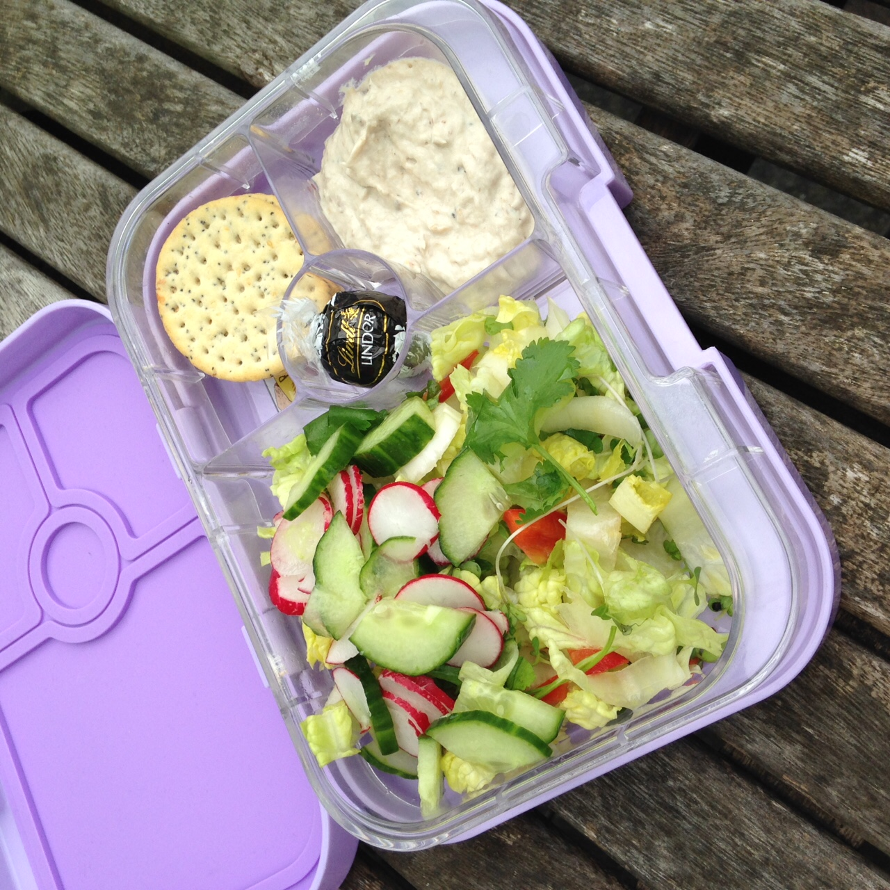 Homemade Mackerel Pate in the Lavande Purple Yumbox Panino