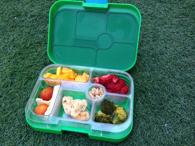 Yumbox with Cheesy Courgette Scones from Hungry Little Veggies