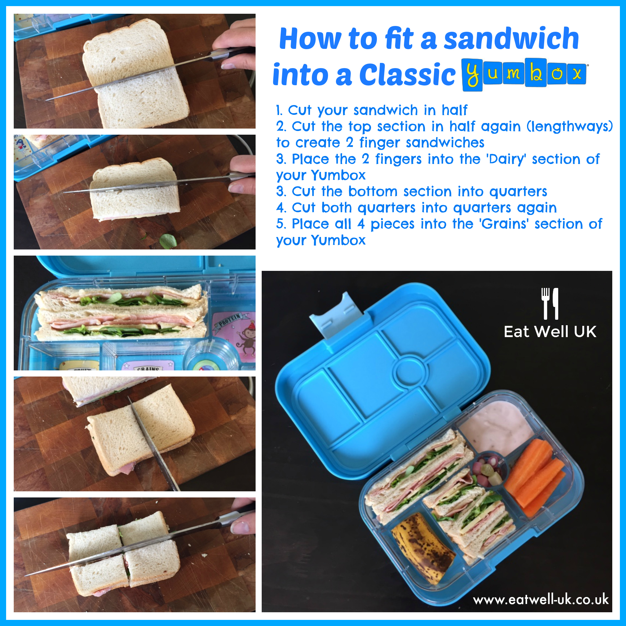 Afternoon Tea Sandwiches in the Classic Yumbox