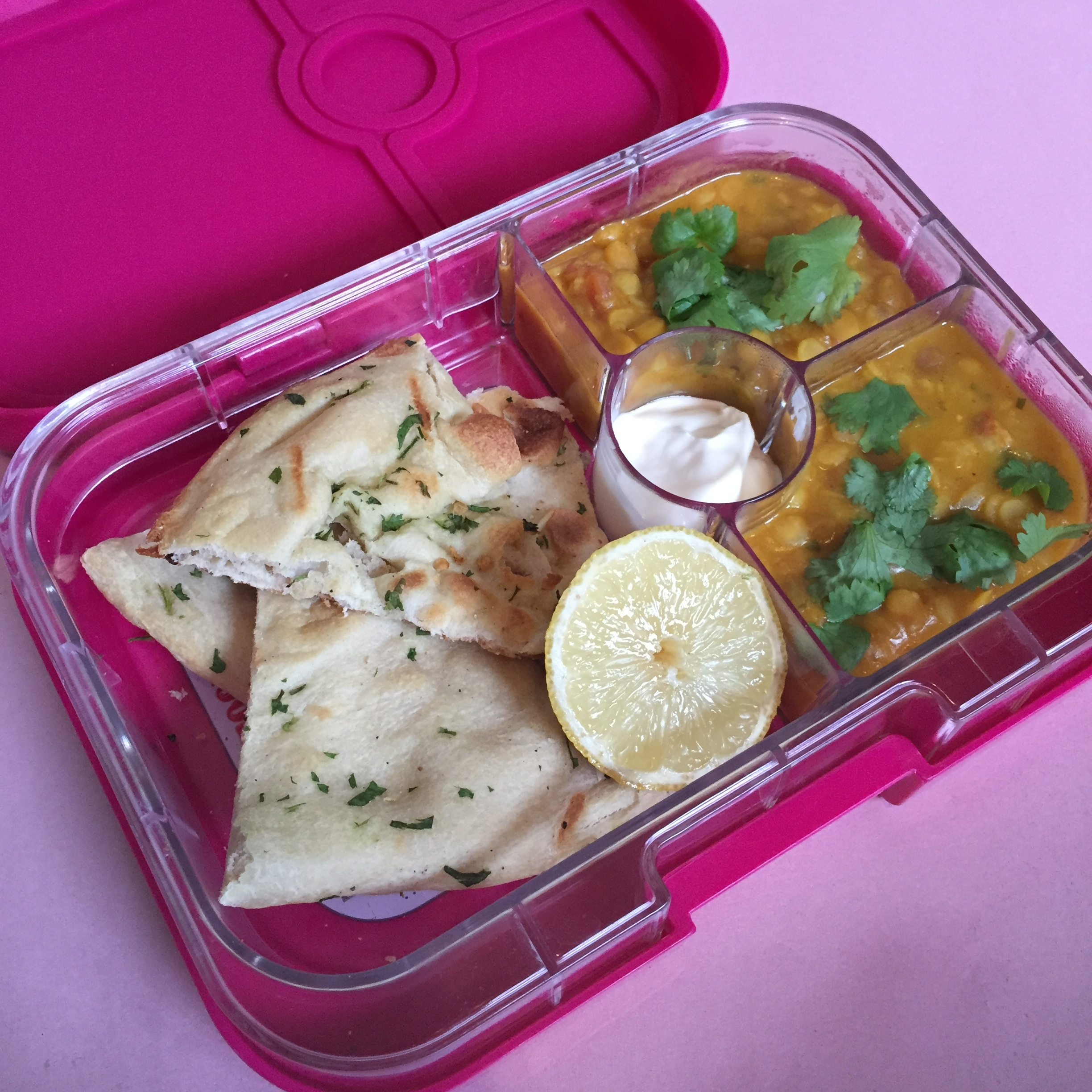 The Yumbox Panino Indiand Curry Leftovers