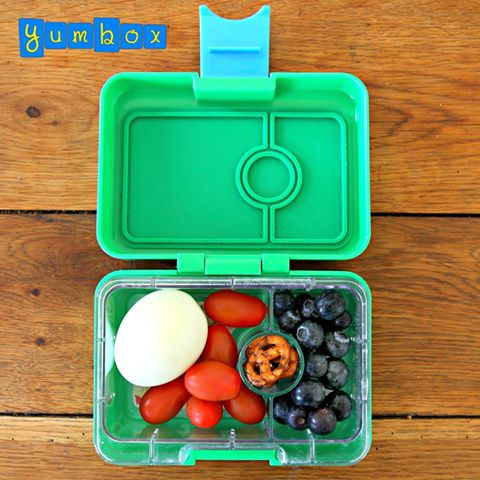 Green Yumbox Mini Snack with Egg
