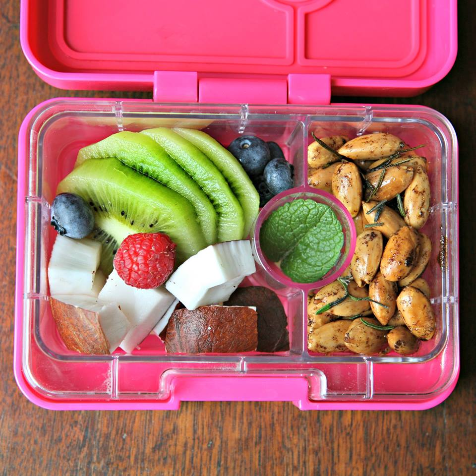 Yumbox Mini Snack in Cherie Pink with Coconut