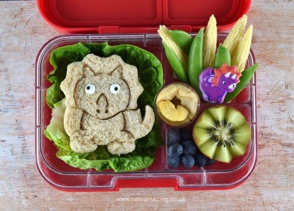 Dinosaur Lunch Punch sandwich in Yumbox