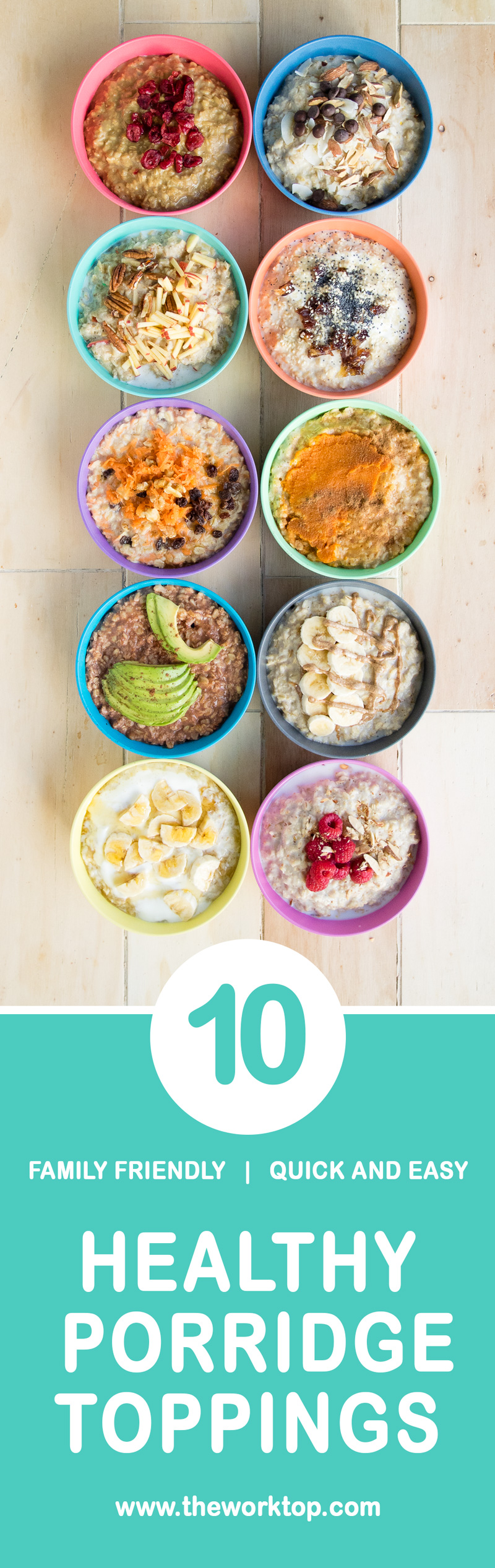 The WorkTop Healthy Porridge Toppings